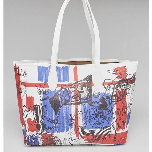 Burberry Handbags - Burberry Union Jack Doodle Tote Purse